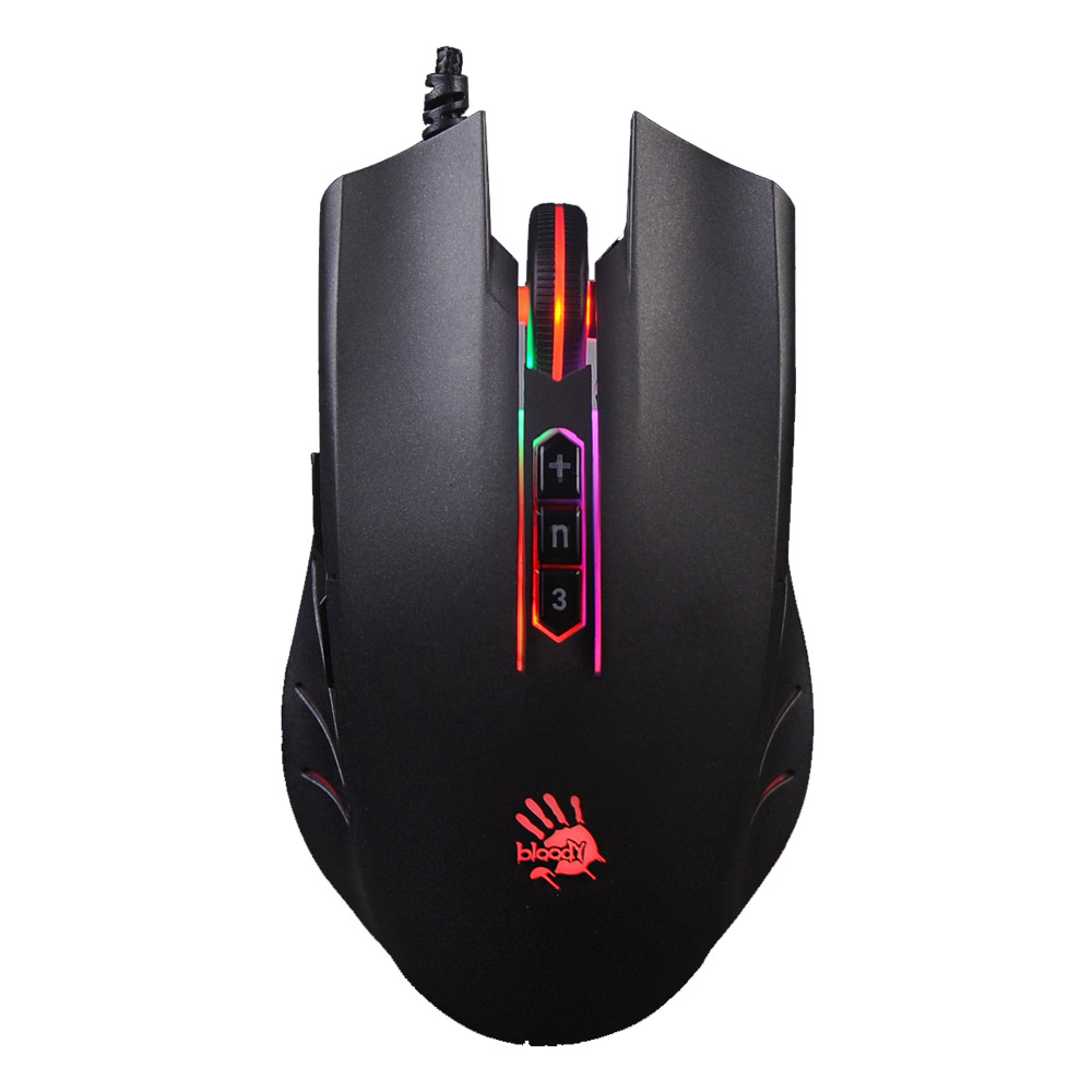 Bloody Q81 Neon XGlide Gaming Mouse Black