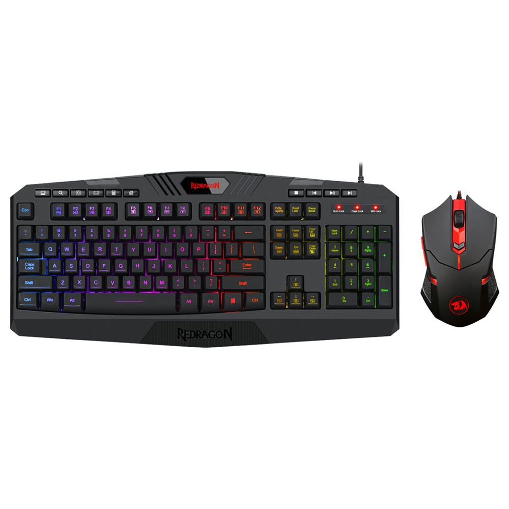 REDRAGON - S101-3 Wired Gaming Keyboard and Optical Mouse Gaming Bundle